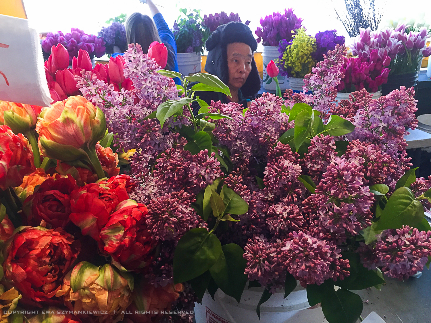Pike Place Market in Seattle, Abundance of flowers