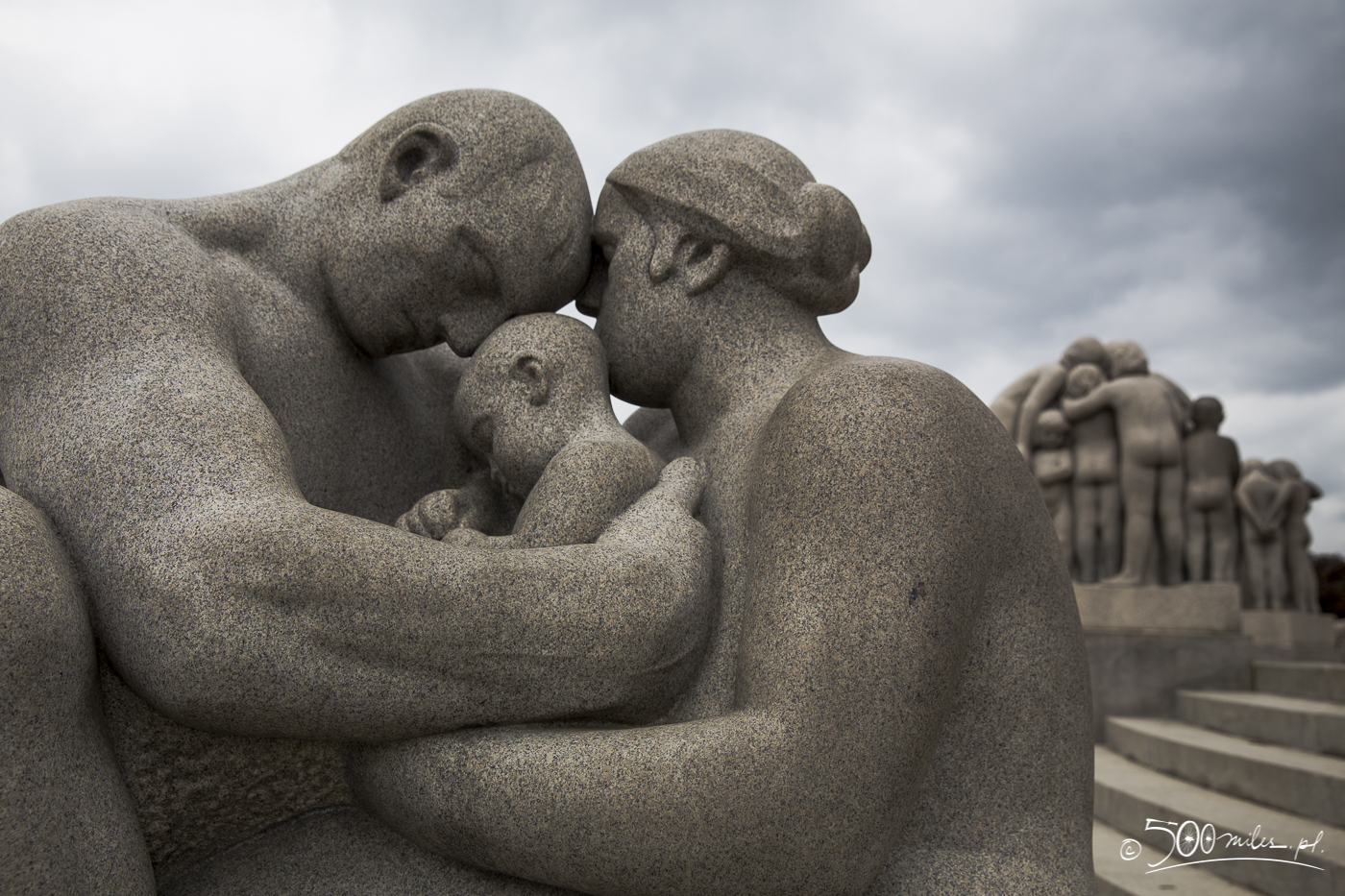 Oslo - Vigeland Park - granith sculptures