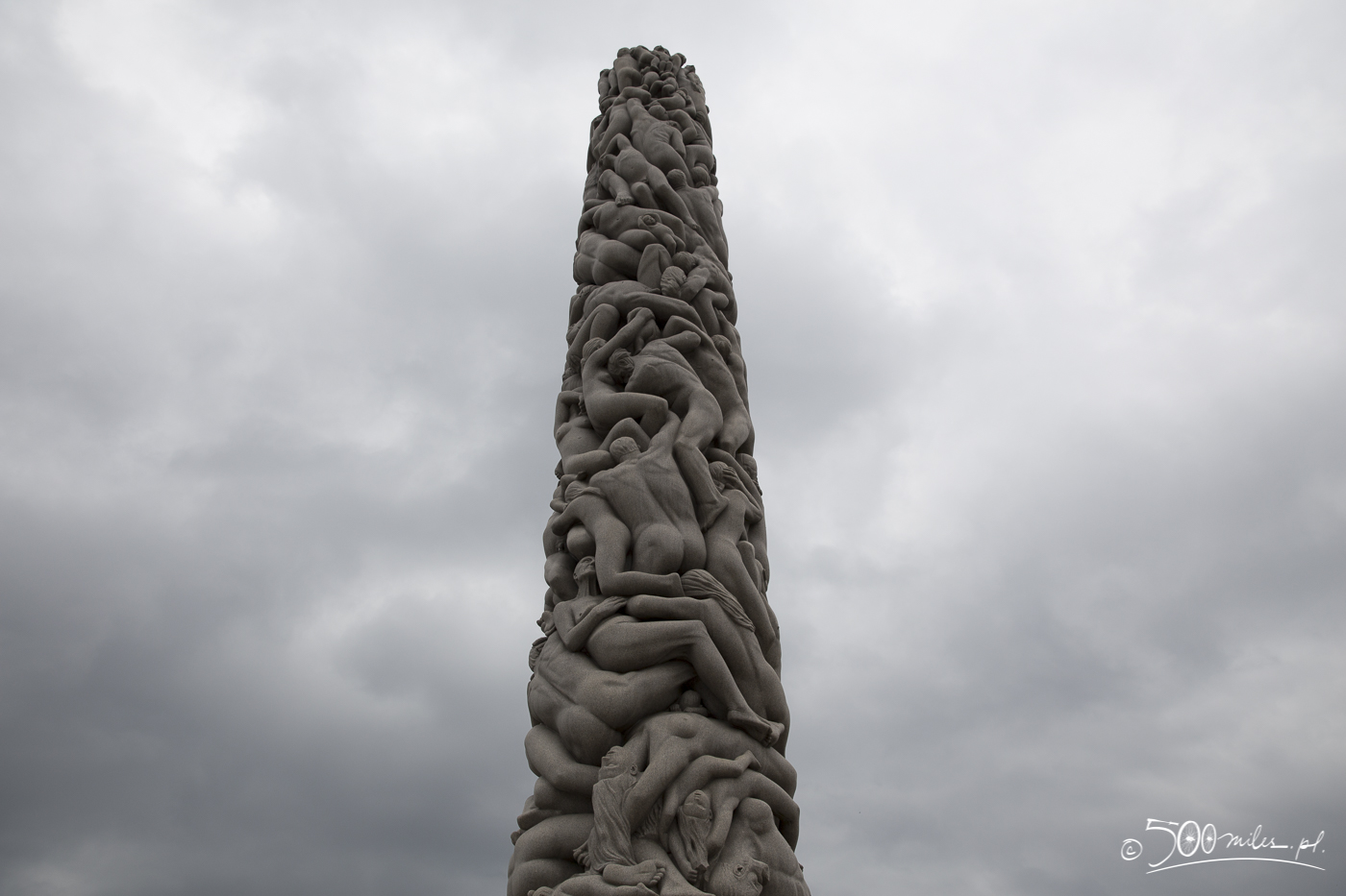Oslo - Vigeland Park - Monolith close-up
