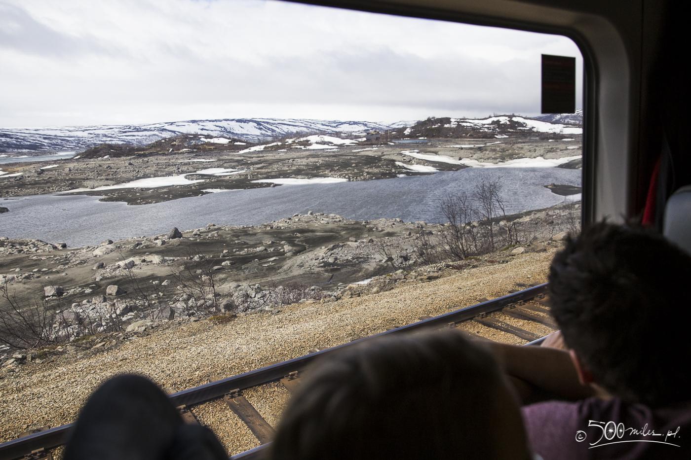 Oslo-Bergen train ride - view through the window