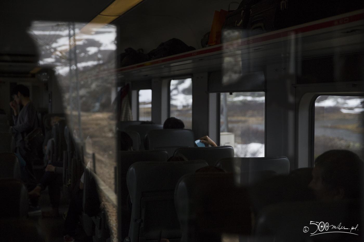 Oslo-Bergen train ride - inside of the train