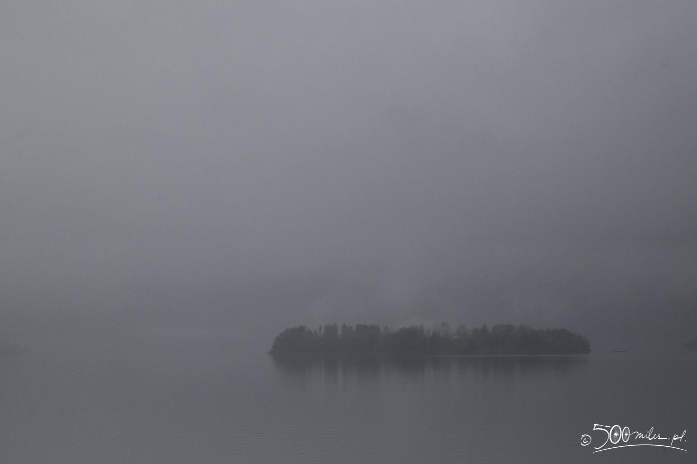 Oslo-Bergen train ride - incredibly foggy moment