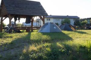 Laska, pole namiotowe