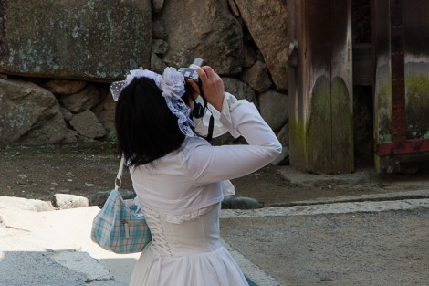 At the Himeji Castle, Japan