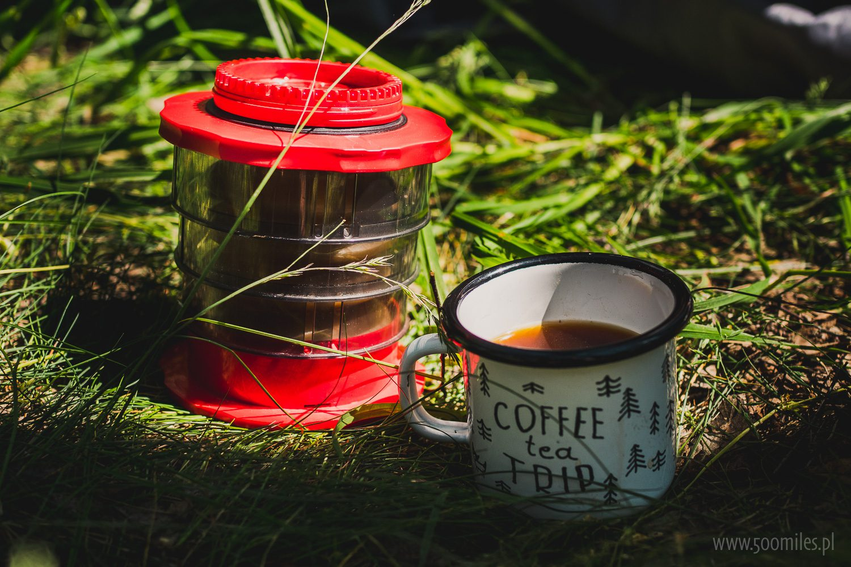 Cafflano Kompact i kubek Coffee Tea Trip